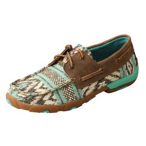 TWISTED X WOMEN'S MULTI TEAL DRIVING MOC